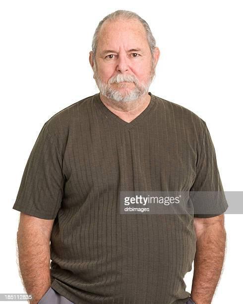 homme senior portrait de la taille. - cadrage à la taille photos et images de collection