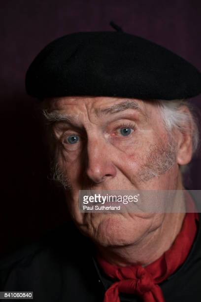 senior man wearing a beret looking to camera. - sideburn stock pictures, royalty-free photos & images