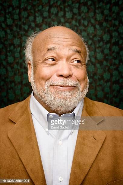senior man with beard, close-up, portrait - 眉を上げる ストックフォトと画像
