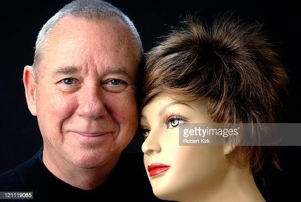 senior man with his doll - ventriloquist stock photos and pictures