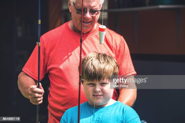 Senior man with his grandson.