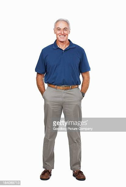 Senior man with his hands in pockets