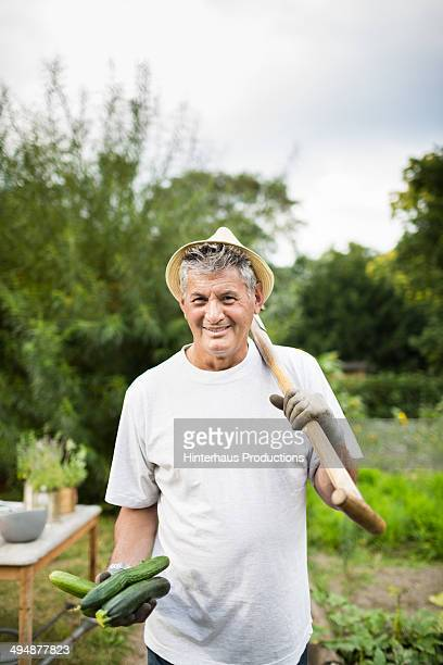 Senior Man With His Harvest