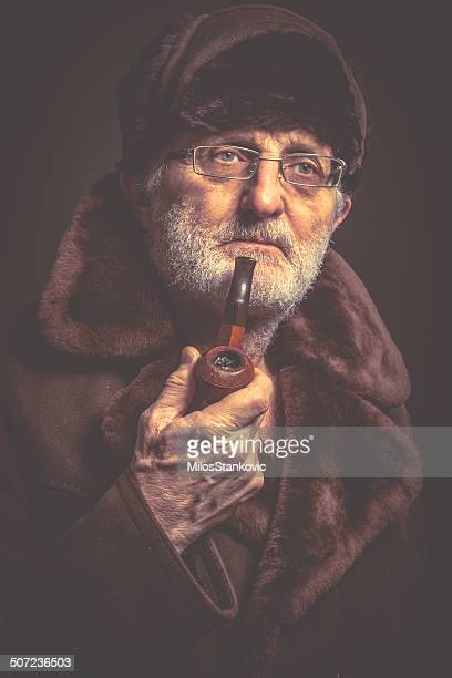 Senior man with pipe