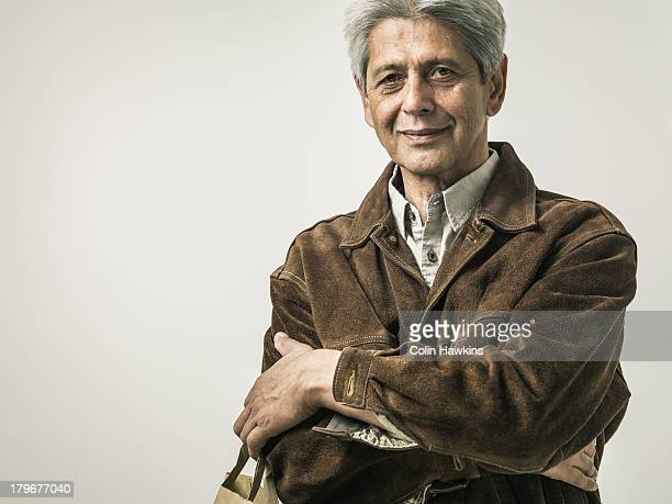 Senior man with shopping bag