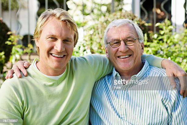 Senior Man with Son