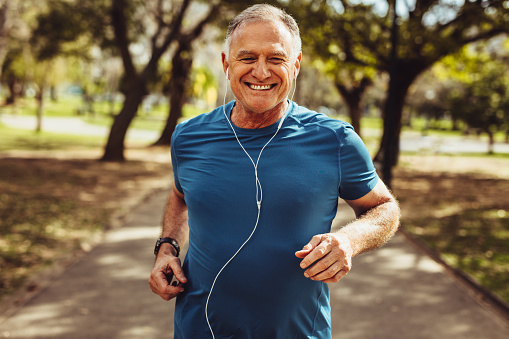 Senior man working out for good health 1135152361