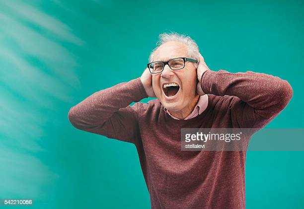 senior man yelling - paris fury stock pictures, royalty-free photos & images