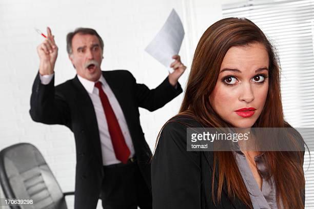 Senior manager angry at secretary