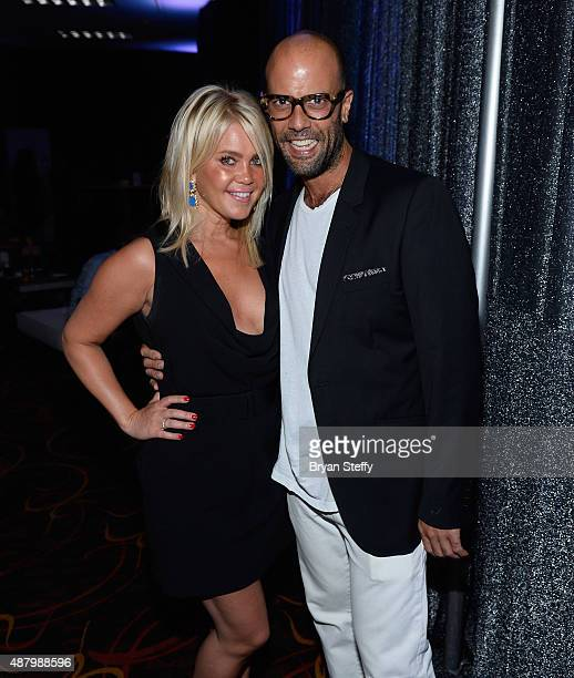 Senior Manager Events Marketing for DirecTV Joyce Jackovitz and actor Christian George arrive at the VIP PreFight Party for 'High Stakes Mayweather v...
