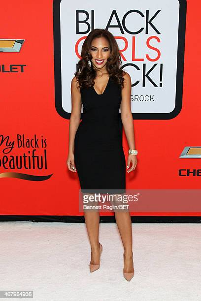 Senior Manager of Digital Business Development at Viacom Angelina Darrisaw attends the BET's Black Girls Rock Red Carpet sponsored by Chevrolet at...
