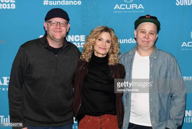 Senior Manager Programming department at Sundance Adam Montgomery director Kyra Sedgwick and actress Ali Liebegott attend the Indie Episodic Program...