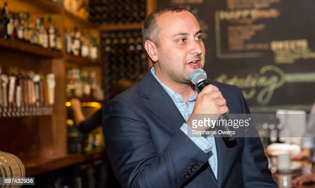 Senior Manager Special Events and Independent Organizing at Directors Guild of America Matt Gamarra speaks at the DGA Reception during 2017 Los...