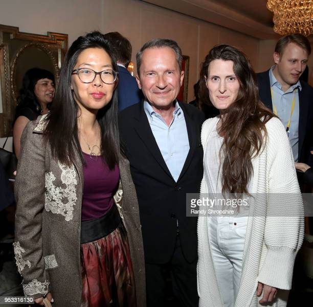 Senior Managing Director at Good Worldwide inc Grace Kim head of Public Affairs at GLG Richard Socarides and guest attend GLG Social Impact Dinner At...
