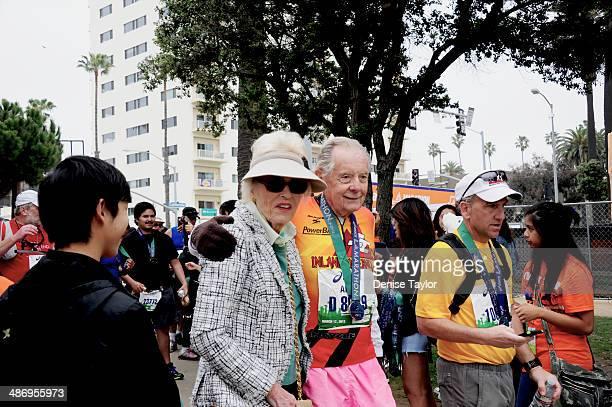 Senior marathon runner