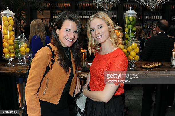 Senior Market and Accessories Editor at Teen Vogue Jessica Minkoff and guest attend the Kohl's MILLY for DesigNation cocktail party at Isola Mondrian...