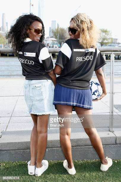 Senior Market Editor at Bustlecom Gabby Prescod and Fashion Director at BETcom Danielle Prescod attend the Westward Leaning SPORT launch event hosted...