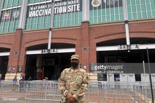 Senior master sergeant David Yarborough poses for a photo as he supervises the operations at M&T Bank Stadium in Baltimore, Maryland, which was...
