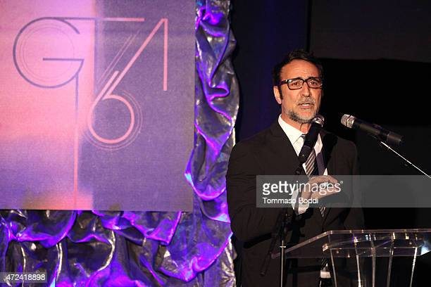 Senior Media Analyst for Rentrak Paul Dergarabedian speaks on stage during the 16th annual Golden Trailer Awards held at Saban Theatre on May 6 2015...