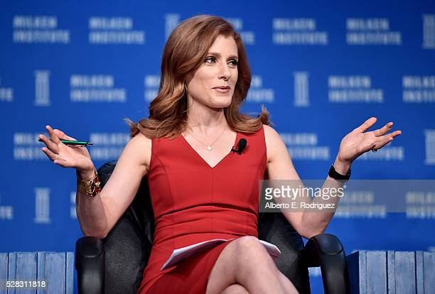 Senior Media and Entertainment Correspondent CNBC Julia Boorstin speaks onstage at the 2016 Milken Institute Global Conference on May 04 2016 in...