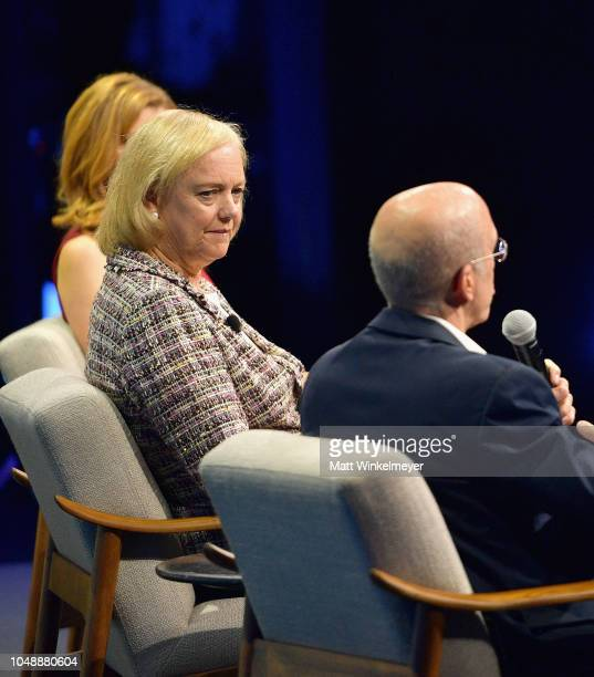 Senior Media and Entertainment Reporter at CNBC Julia Boorstin CEO at NewTV Meg Whitman and Founder and Chairman of the Board at NewTV Jeffrey...