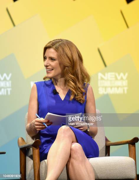 Senior Media and Entertainment Reporter at CNBC Julia Boorstin speaks onstage at Day 1 of the Vanity Fair New Establishment Summit 2018 at The Wallis...