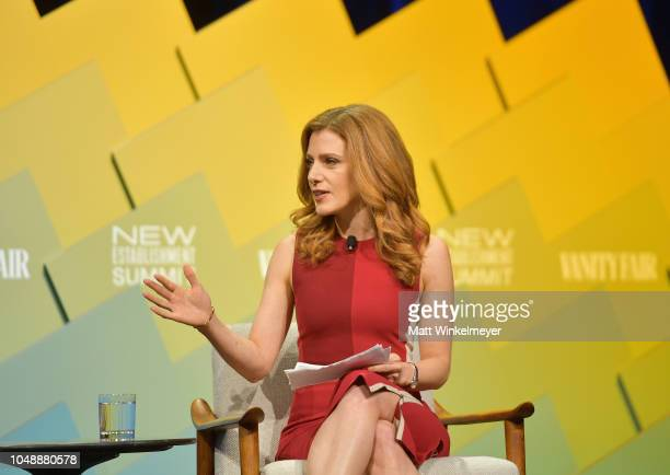 Senior Media and Entertainment Reporter at CNBC Julia Boorstin speaks onstage at Day 2 of the Vanity Fair New Establishment Summit 2018 at The Wallis...