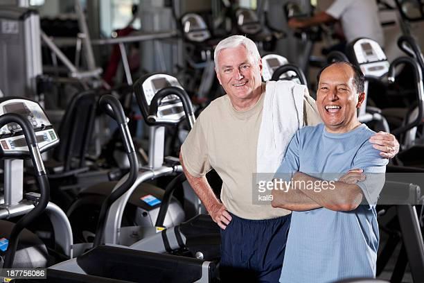 Senior men at health club