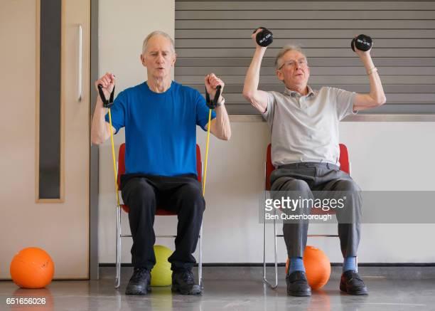 Senior Men's health & fitness workout session