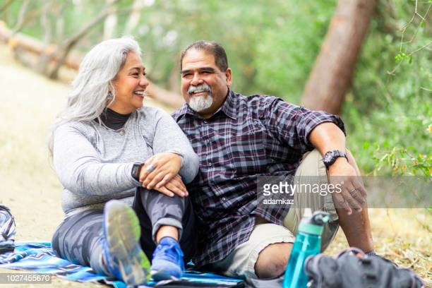 Senior Mexican Couple Having a Picnic