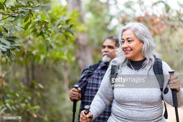 Senior Mexican Couple Hiking