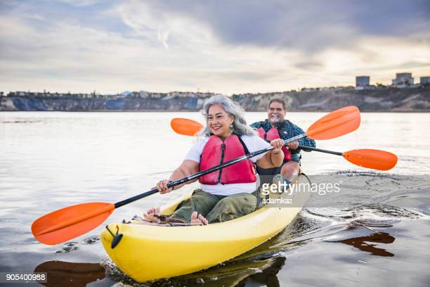Senior Mexican Couple Kayaking