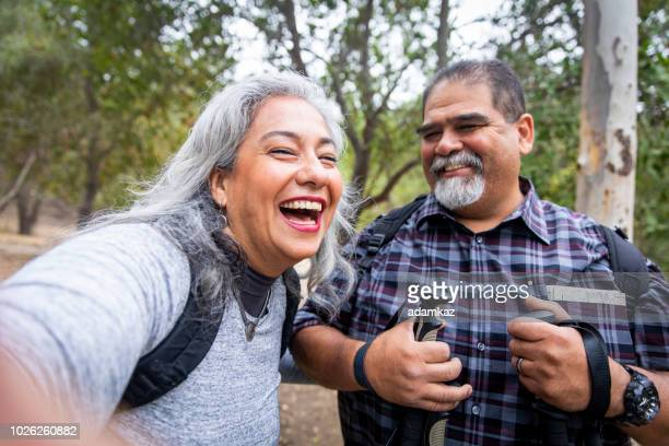 senior mexican couple taking a selfie - beautiful fat women stock pictures, royalty-free photos & images