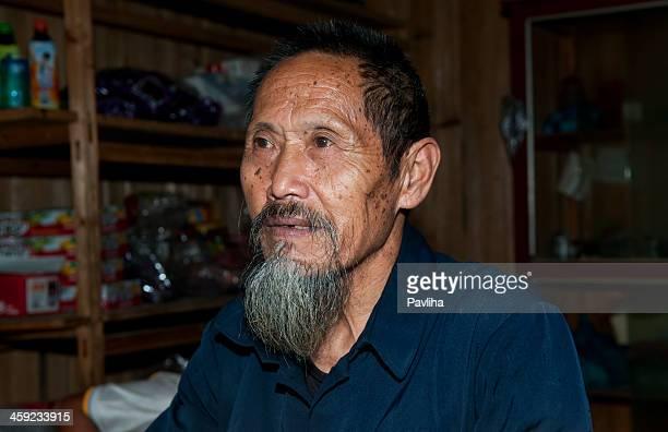 senior miao seller china - pavliha stock photos and pictures