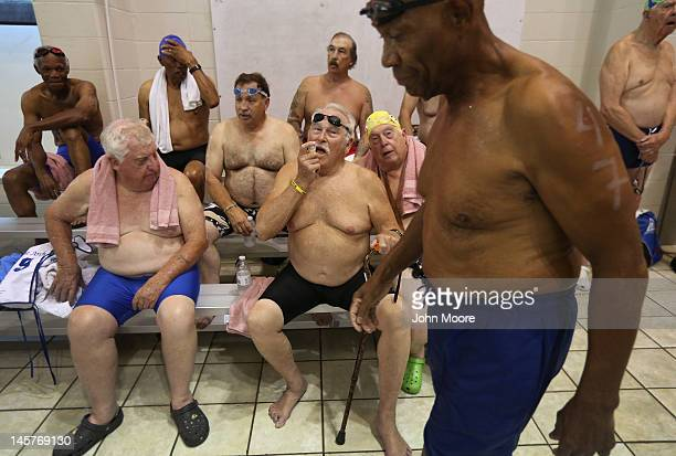 Senior miltary veterans prepare for the swimming competition at the National Golden Age Games on June 4 2012 in St Peters Missouri Almost 800...