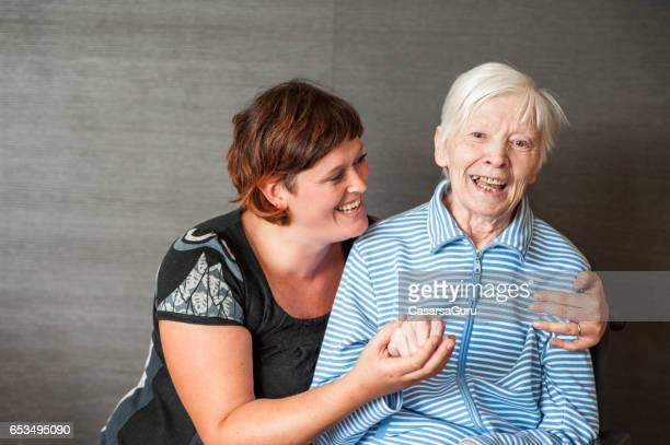Senior Mother With Adult Daughter - Portrait