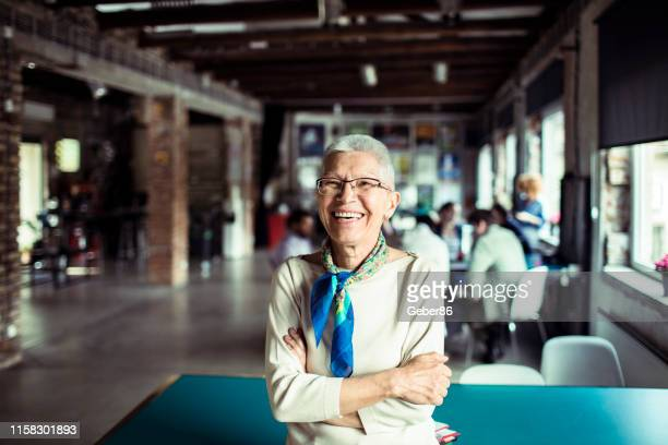 senior office worker - northern european stock photos and pictures