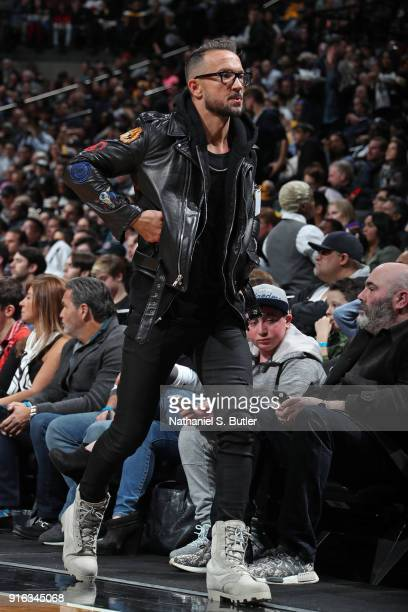 Senior Pastor Carl Lentz of Hillsong Church enjoys the game between the Los Angeles Lakers and Brooklyn Nets on February 2 2018 at Barclays Center in...