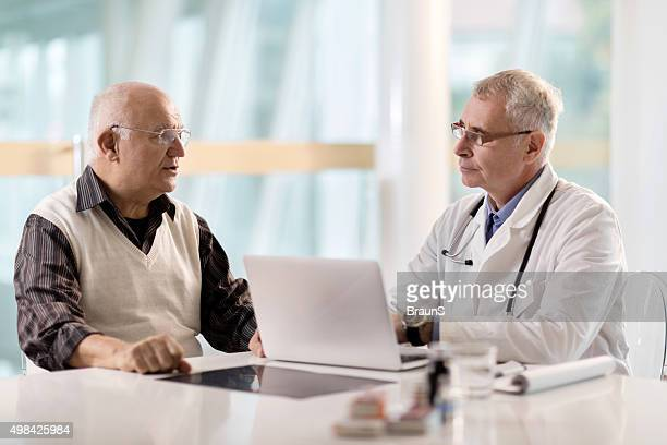 Senior patient having an appointment at doctor's office.