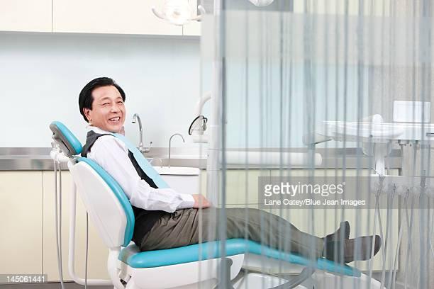 Senior patient in dental clinic