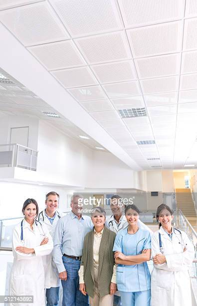 Senior patients at the hospital