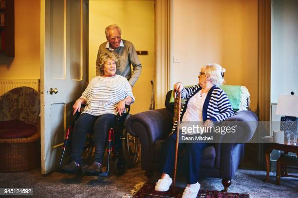 Senior people in retirement home