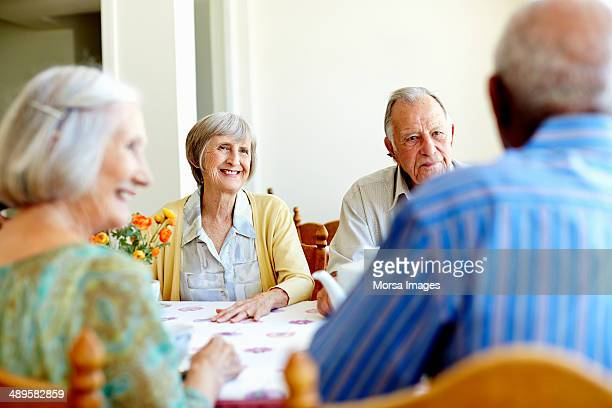 Senior people spending leisure time