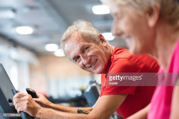senior people working out at rehab gym - drug rehab stock pictures, royalty-free photos & images