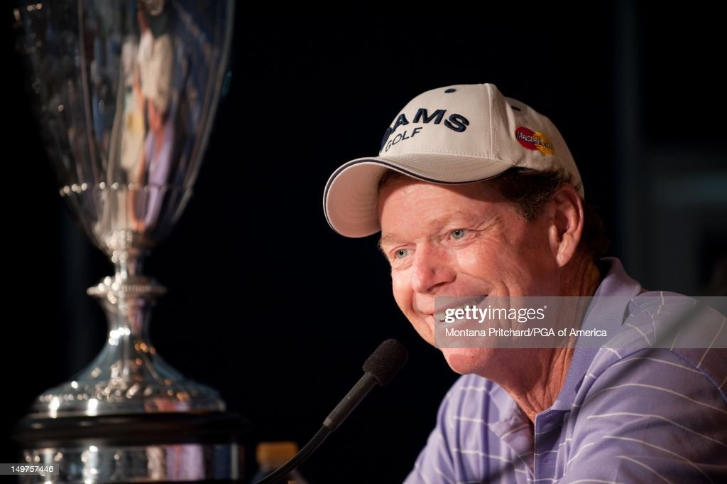 Senior PGA Champion Tom Watson during an interview after the final round of play at the 72nd Senior PGA Championship Presented by KitchenAid at Valhalla Golf Club in Louisville, KY, USA, on Sunday, May 29, 2011.