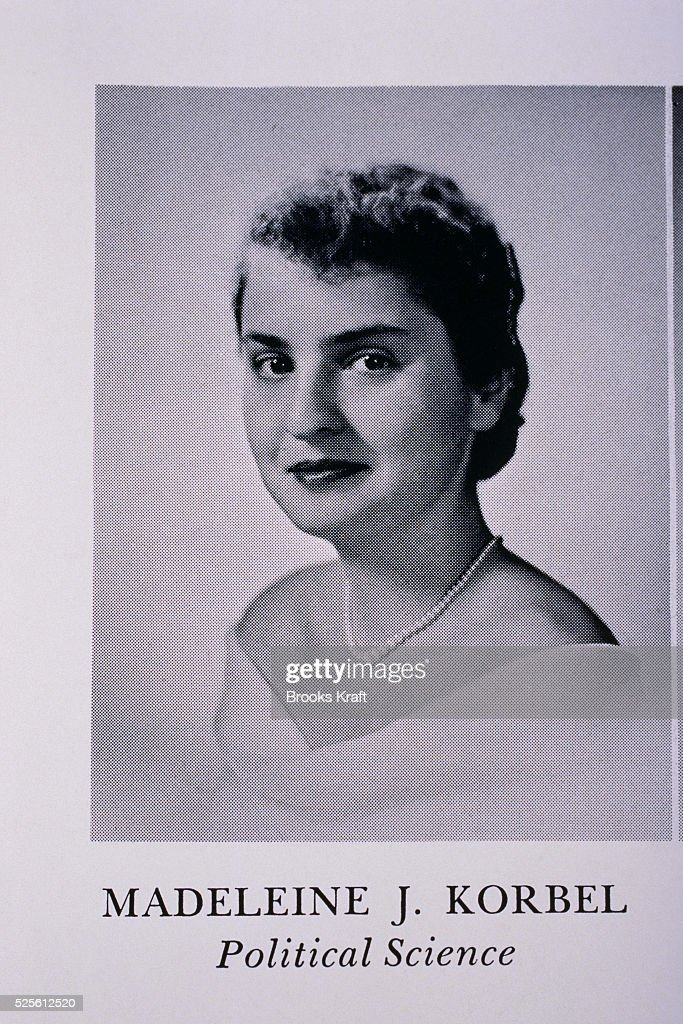 Senior Portarit from Wesley College of Madeleine Albright : News Photo