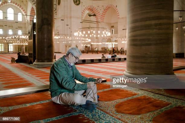 Senior Portrait in mosque