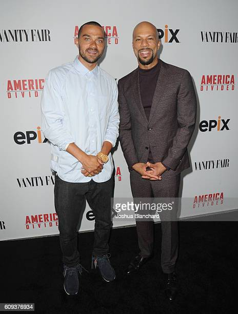Senior Producer Jesse Williams and executive producer Common attend EPIX America Divided LA Premiere at Billy Wilder Theater at The Hammer Museum on...