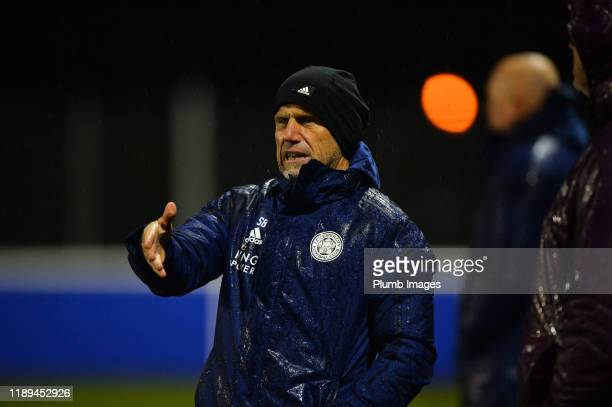 Senior Professional Development Phase Coach Steve Beaglehole of Leicester City during the Leicester City U23 v Villarreal B PL International Cup at...