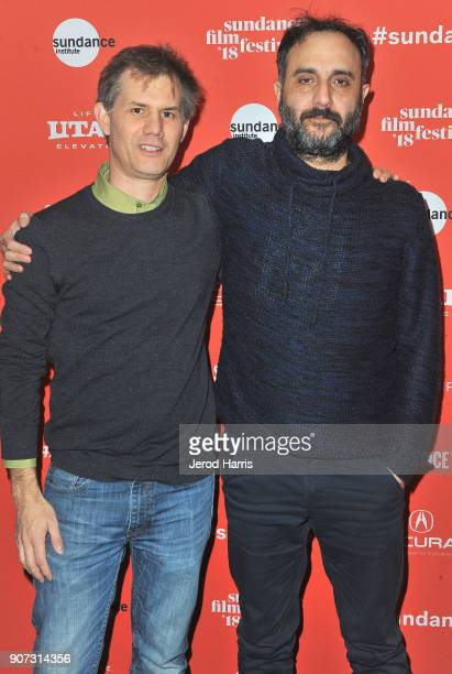 Senior Programmer for Sundance Film Festival Trevor Groth and director Babis Makridis attends the 'Pity' Premiere during the 2018 Sundance Film...